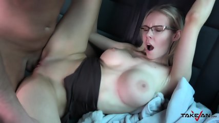 Cutie With Glasses Gets Creampied In Van - Floranes Russell